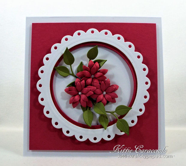 Would you like to learn to make framed die cut flower cards