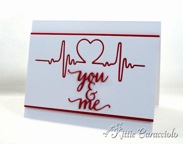 making a clean and simple die cut heartbeat Valentine card is fun