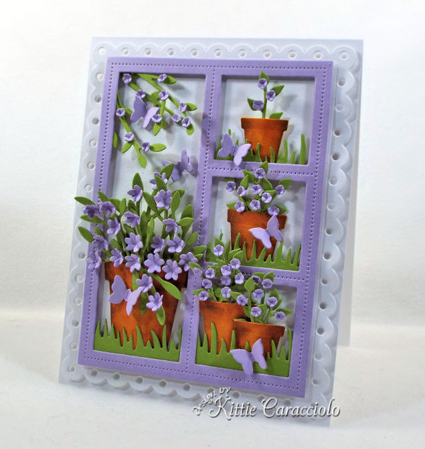 Come see how I made this window card with flower pots that would be perfect for any occasion.