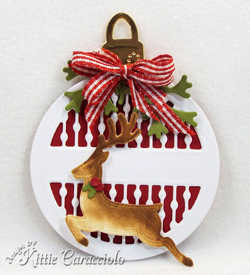 Come check out my round Deer tag made using the newly releaesed Spellbinders holiday set.