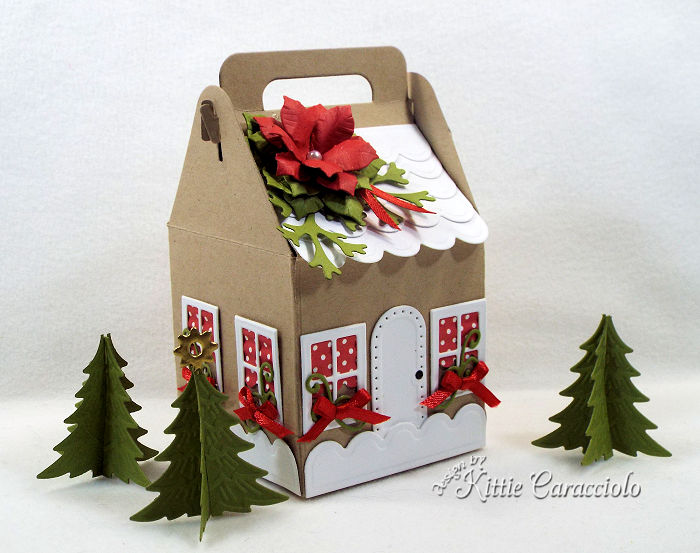 Come see how I made this Christmas charming cottage gift box.