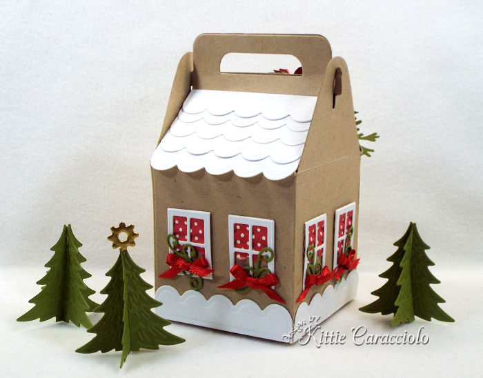 Come see how I made this sweet Christmas charming cottage gift box.