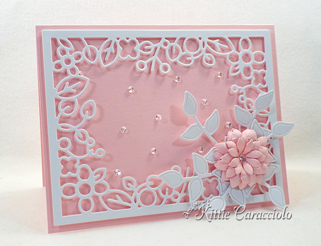 Come see how I made this elegant die cut floral frame card.