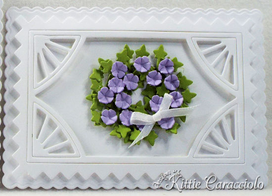 Come see how I made these simple die cut flower and frame sample cards.