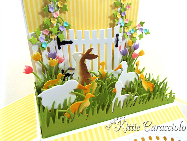 Come see how I made this duck and bunny Easter Pop Up Box Card.