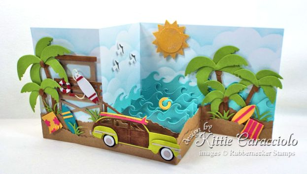 Come see how I made this beach z fold box card.