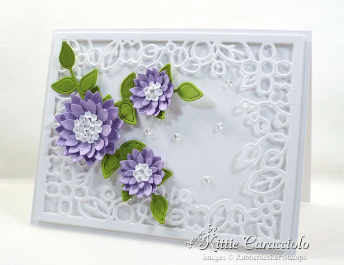 Come over to my blog to see how I made this die cut decorative frame and flowers card.