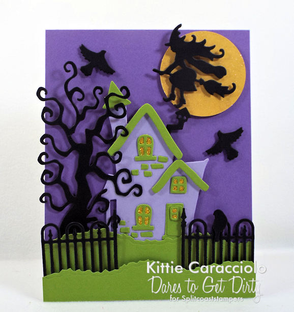 Come check out how I made this fun spooky house Halloween card.