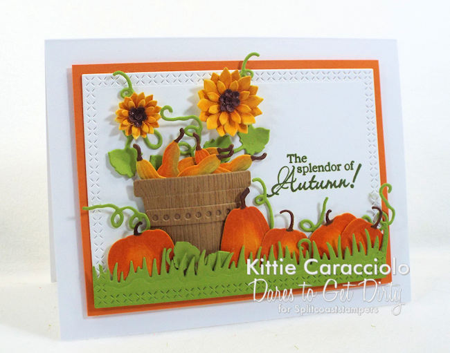 Come see how I made this autumn pumpkins and sunflowers card.