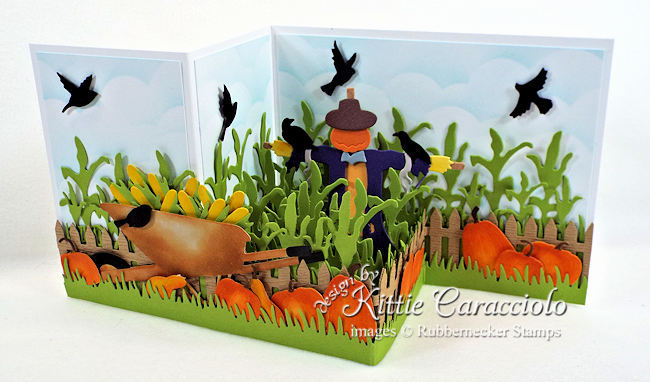 Come see how I made this fun scarecrow z fold box card.