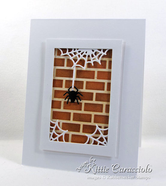 Come see how I made this Halloween spider and spiderwebs card.