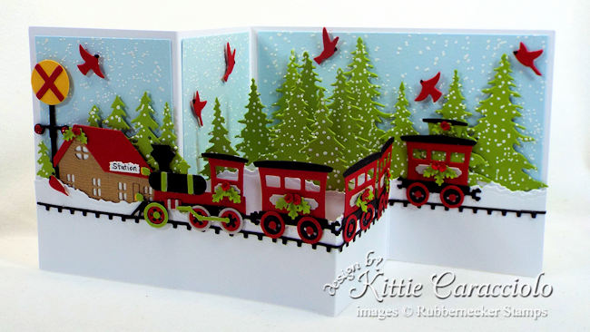 Come over to my blog to see how I made this Christmas train z fold card.