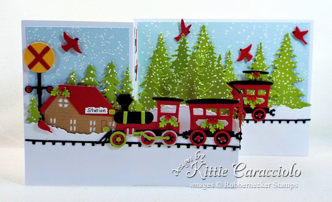 Come over to my blog to see how I made this festive Christmas train z fold card.