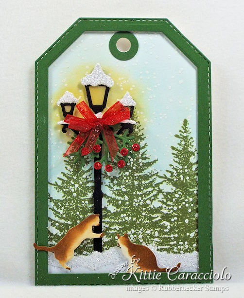 Come see how I made scenic handmade Christmas tags.
