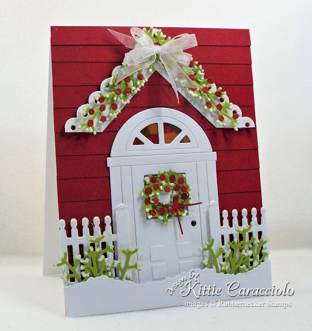 Rubbernecker Stamps Blog Come-see-how-I-made-this-inviting-handmade-door-card-for-Christmas.
