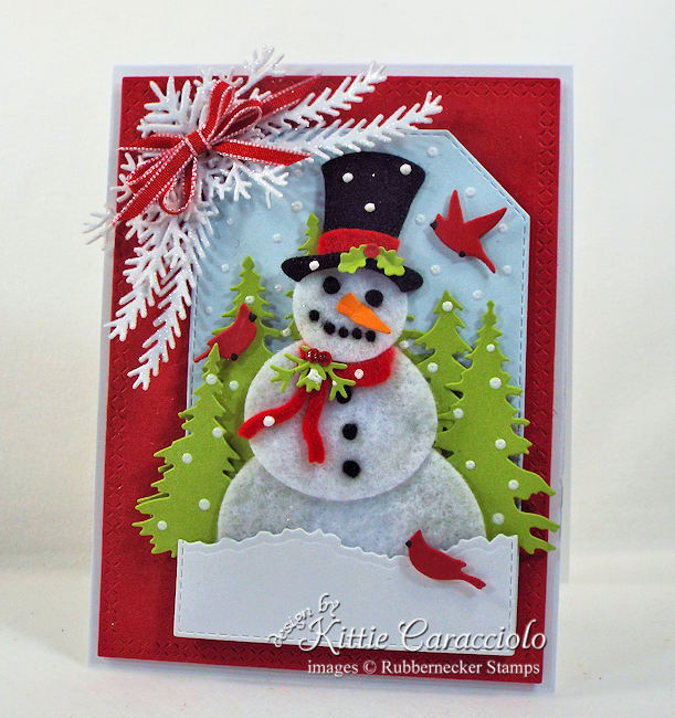 Come check out this super cute snowman card I made using some felt scraps!