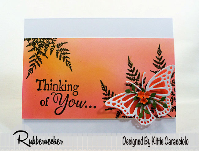 Come check out how I made this butterfly thinking of you card using stamps and dies made by Rubbernecker Stamps.
