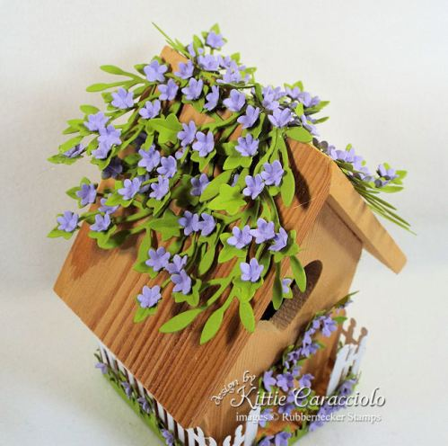 Click thru to see how I used dies to create this pretty decorative bird house for spring.