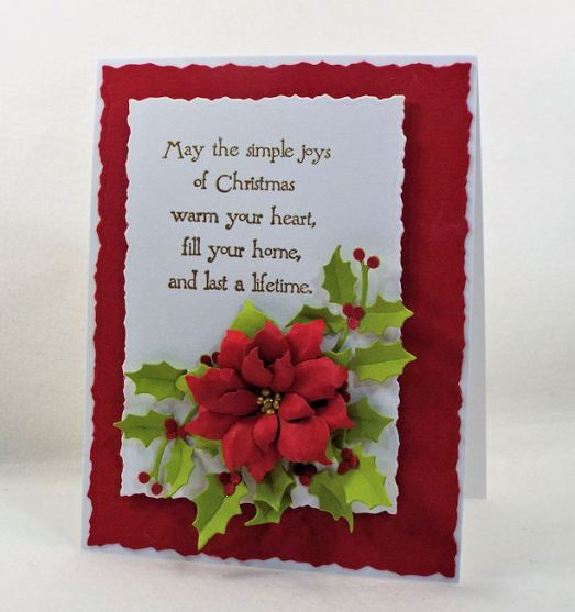 I love making paper poinsettias for Christmas cards, gifts and home decor. Click thru to see how I made this beautiful holiday card.