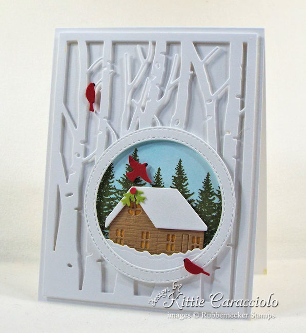 It's the season for handmade winter cards! Click through to see how I created this little cutie!