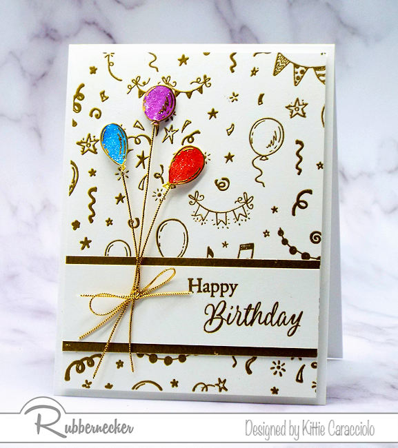 I like to keep a simple birthday card or two on hand to send out to my friends and family.  This birthday background is perfect for fast, simple and easy cards.