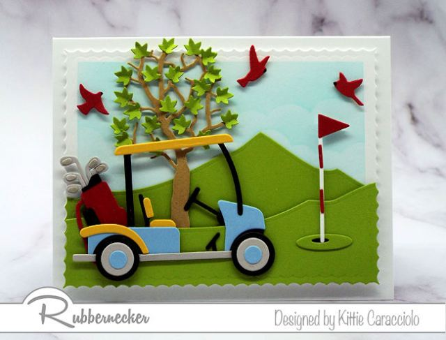 Wouldn't you love to make this golf cart card to give to your golfing friends or family.