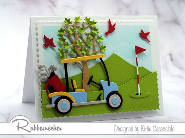 Wouldn't you love to make this golf cart card to give to your favorite golfer or to your dad on Father's Day.