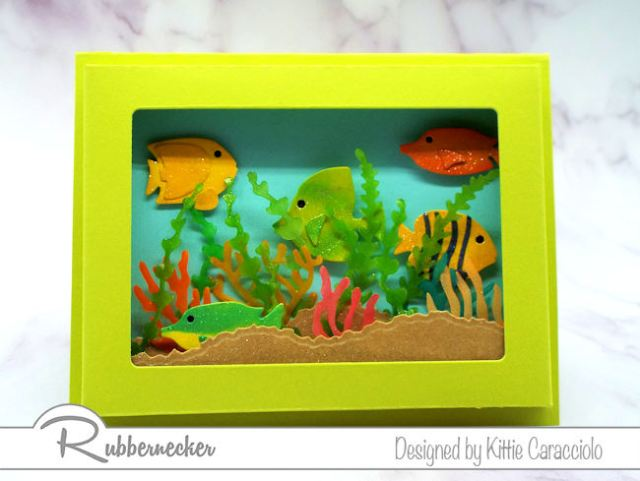 Can you believe the frame for this paper shadow box card only took minutes to make? Come learn how!