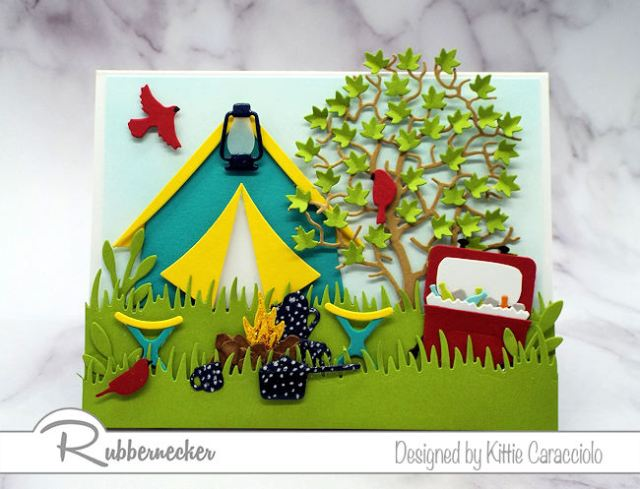 This handmade camping card just might make you want to pack up and go - come see all the fun details!