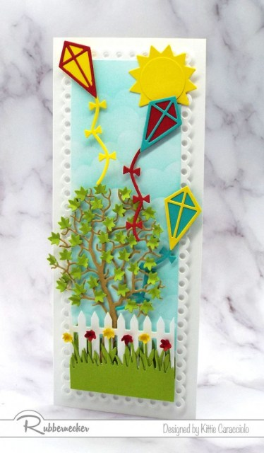 Click through to see all the fun details on this handmade kite card!