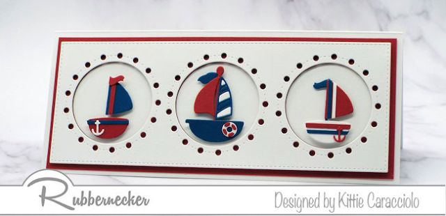 Today I am sharing a CAS slimline nautical card using one of the new dies from Rubbernecker - come see the details!