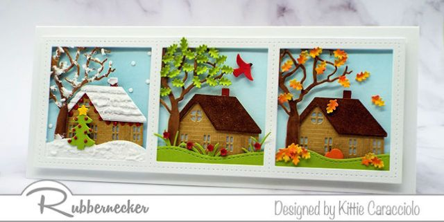 I love this slimline card idea because it can be used lots of different ways - come get the details!