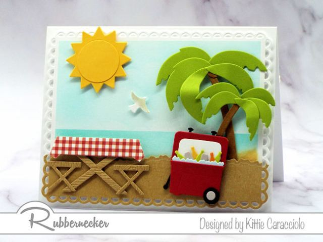 Make a beach picnic card for those days when you and your friends just can't make it to the real beach!