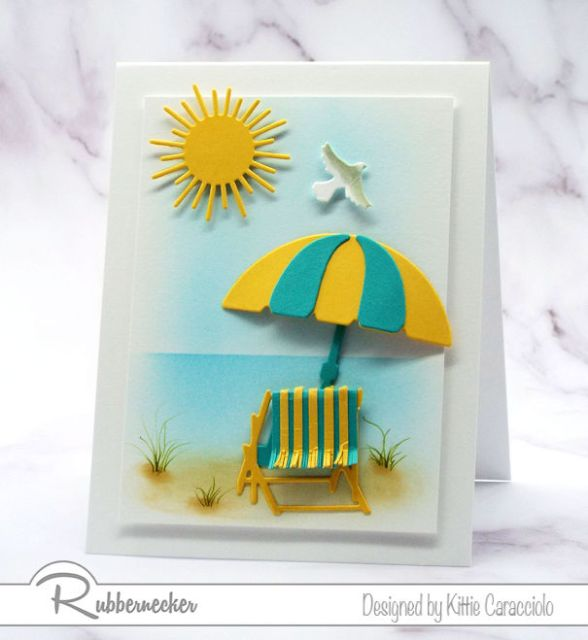 a handstamped project featuring die cuts and a sample of pretty backgrounds for cards