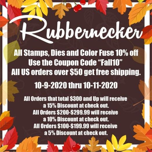 Rubbernecker Oct Sale