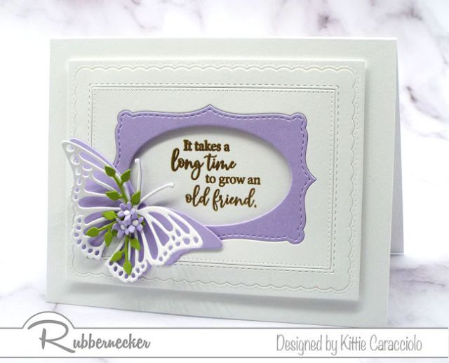 Die cut butterfly embellishments are perfect to dress up a simple handmade card.