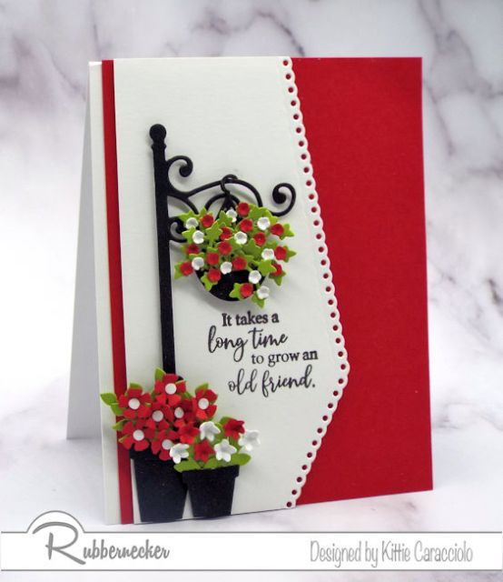 Handmade cards look so pretty with decorative die cuts borders.