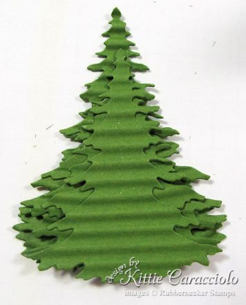 3.  How to make a layered Christmas tree.