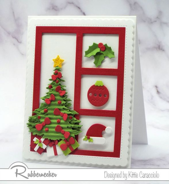 Cute Christmas die cuts are so fun to work with and make such adorable Christmas cards.