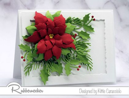 Take the Rubbernecker Poinsettia Online Class to learn how to create dimensional poinsettias for your holiday cards.