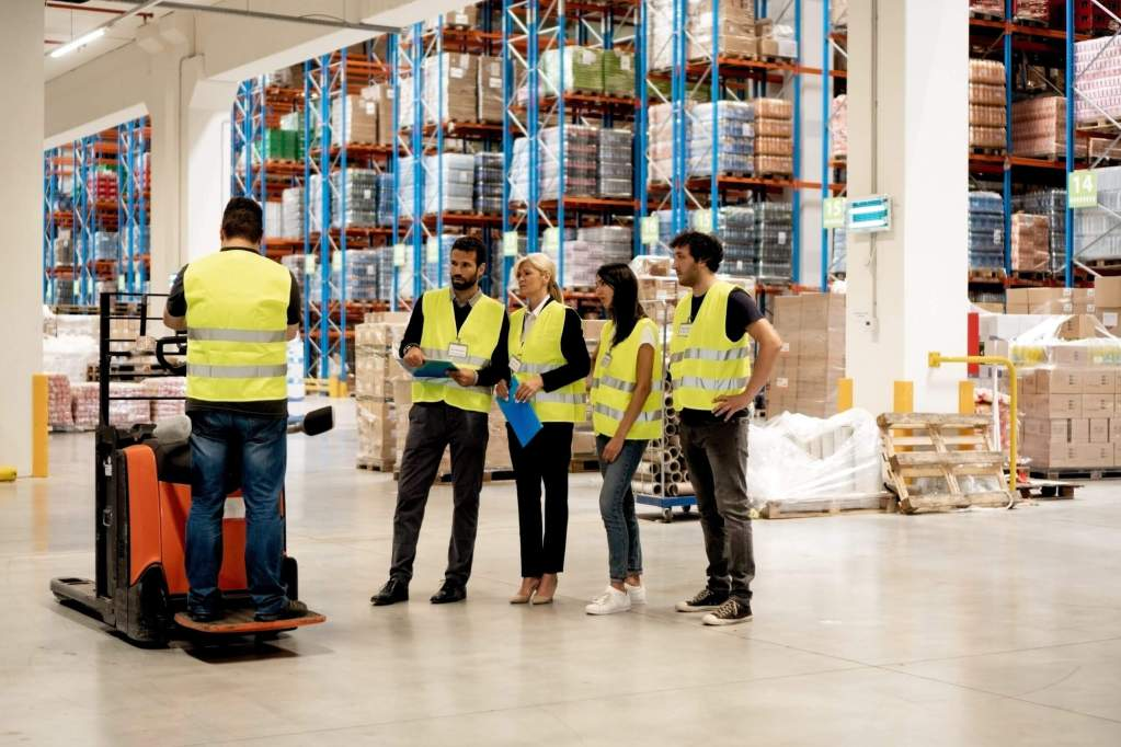 Training on a forklift