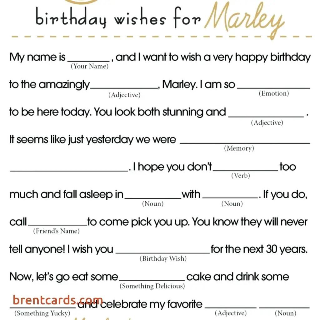 12 Funny Birthday Mad Libs Kitty Baby Love