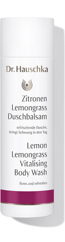 Dr Hauschka Lemon Lemongrass Vitalising Body Wash 200 ml - shower-time smells like one of those flannels you get to wash your hands (and face) with in Indian restaurants. Very kind to my stupidly sensitive skin.
