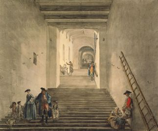 The ascent to the Round Tower c.1770. Paul Sandby. Royal Collection Trust/© Her Majesty Queen Elizabeth II 2014