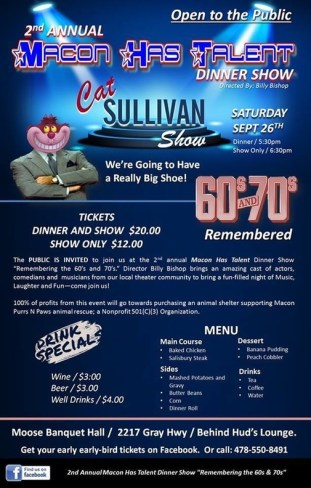 Macon Has Talent: The Cat Sullivan Show - A Benefit for Macon Purrs N Paws Animal Rescue