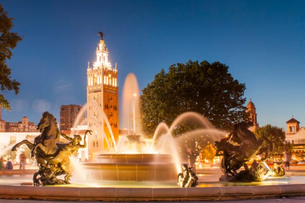 Best Cities for Cat Lovers & Adventure Cats: Kansas City, MO - J.C. Nichols Memorial Fountain