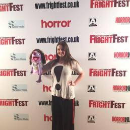 Gracing the media wall at Horror Channel FrightFest 2016