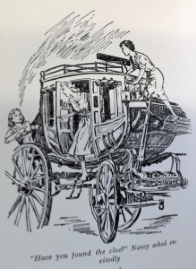 Clue in the old stagecoach - Illustration
