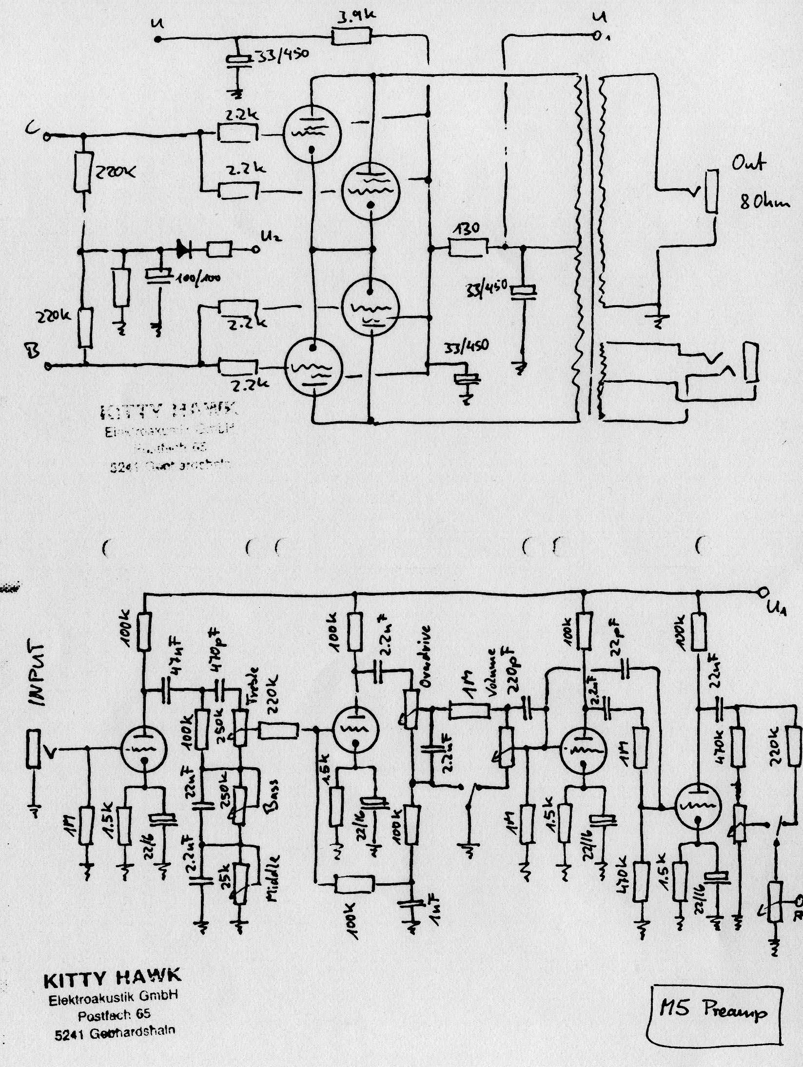 Help In Need Of Schematic For Kitty Hawk M5 45 Watt Combo