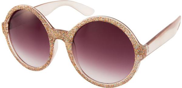 Круглые блестящие очки - Солнцезащитные очки - тенденции модного декора 2013